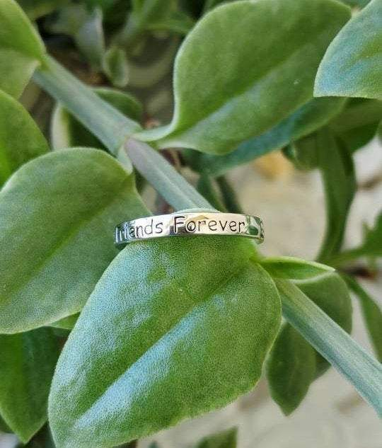 Best Friends Forever ~ Engraved  Ring