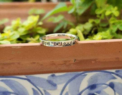 Mom, I love you with all my Heart~ Engraved Ring