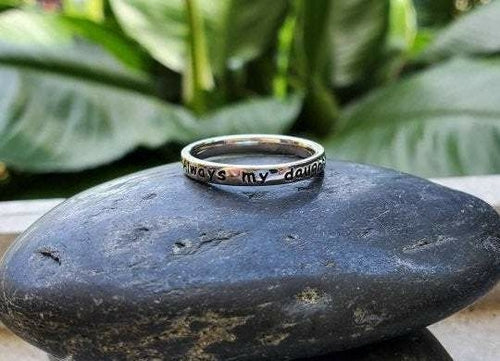 Always my Daughter, Forever my friend  ~ Engraved Ring