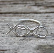 Xoxo Initials Ring - Hugs and Kisses Ring - Joy of London Jewels