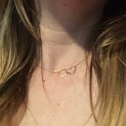 Namaste Necklace - Heart and Circle Infinity Necklace