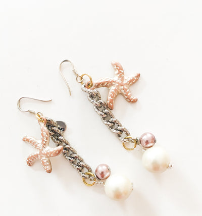 Statement Earrings with Starfish Charms - Joy of London Jewels