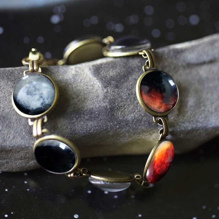Lunar Eclipse Bracelet - Space Jewelry, Blood Moon