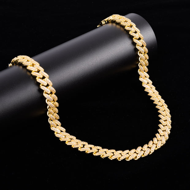 Men's 14K Yellow Gold 13MM Cuban Chain Necklace - Joy of London Jewels