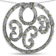 Celtic Ethically Mined Green Diamond Pendant Necklace - Joy of London Jewels
