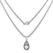 6.04 Carat Genuine Crystal Quartz, Tanzanite & White Diamond .925 - Joy of London Jewels