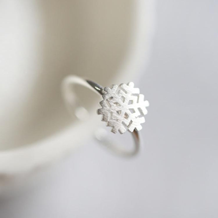 Sterling Silver Snowflake Ring - Joy of London Jewels