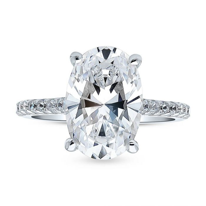 A Classic 3CT Oval Cut Belgium Lab Diamond Solitaire Engagement Ring - Joy of London Jewels