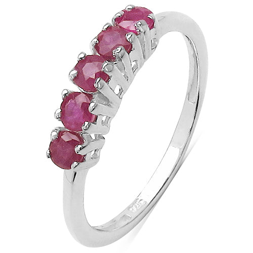 0.65 Carat Genuine Ruby .925 Sterling Silver Ring - Joy of London Jewels