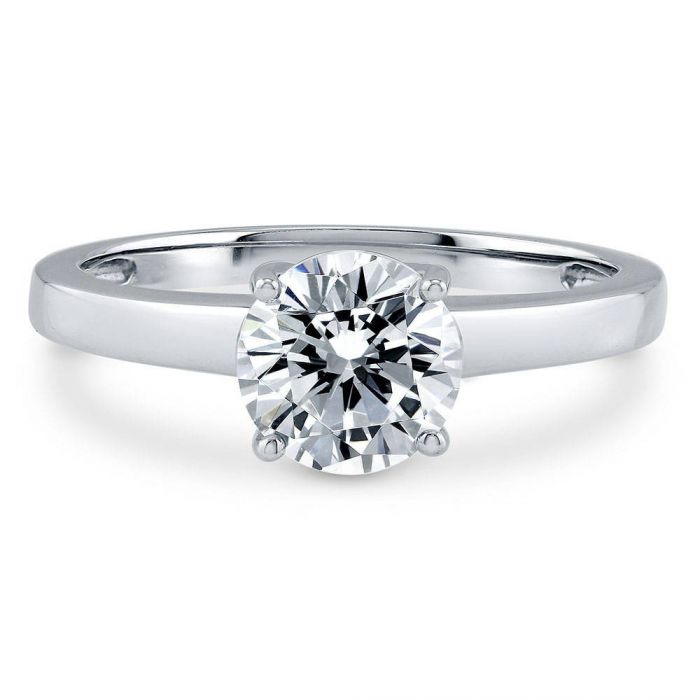 10K White Gold 2CT Round Cut Moissanite Diamond Solitaire Engagement Ring - Joy of London Jewels