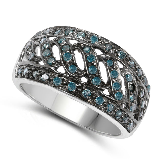 A Natural Ethically Mined Blue Diamond Anniversary Ring - Joy of London Jewels