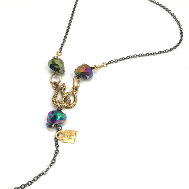 Rainbow Crystal Skulls Marcus Necklace