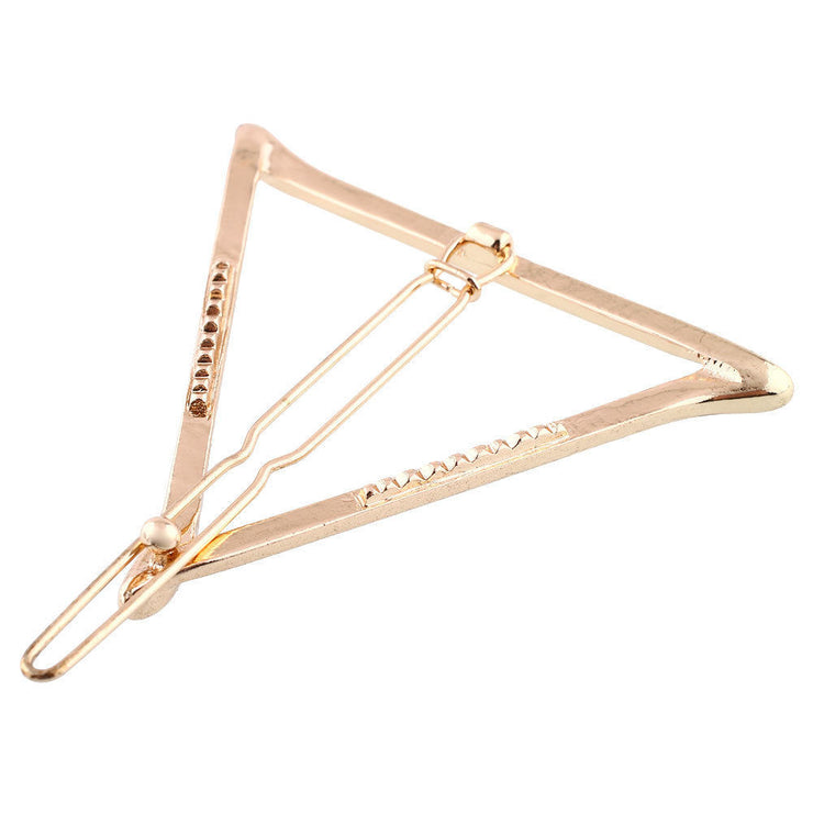 Celebrity Trending Gold or Silver Triangle Hair Clip Hairpin Wedding Barrette - Joy of London Jewels