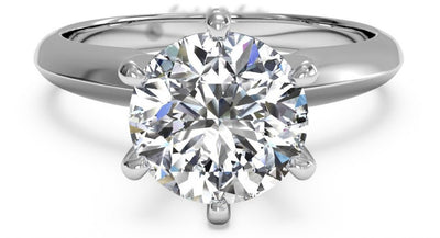 A Perfect 5.2CT Round Cut Solitaire Russian Lab Diamond Engagement Ring - Joy of London Jewels