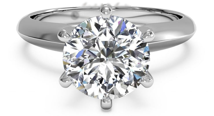 A Perfect 6CT Round Cut Solitaire Engagement Travel Ring - Joy of London Jewels