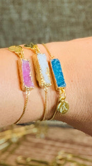 Druzy Bracelet Mineral Style - Joy of London Jewels