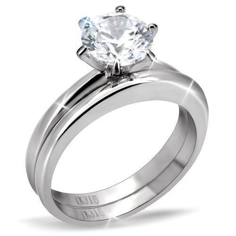 A Perfect 1CT Round Cut Solitaire Russian Lab Diamond Bridal Set