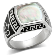 Men or Women Moonstone Stainless Steel Ring