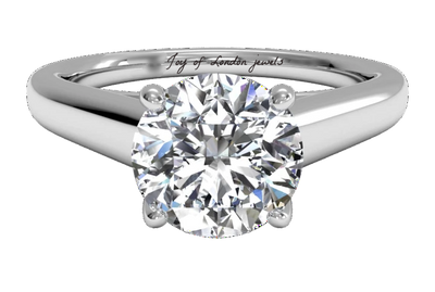 A Flawless 2CT Brilliant Round Cut Belgium Lab Diamond Engagement Ring