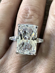 A Flawless 8.2CT Radiant Cut Belgium Lab Diamond Engagement Ring - Joy of London Jewels