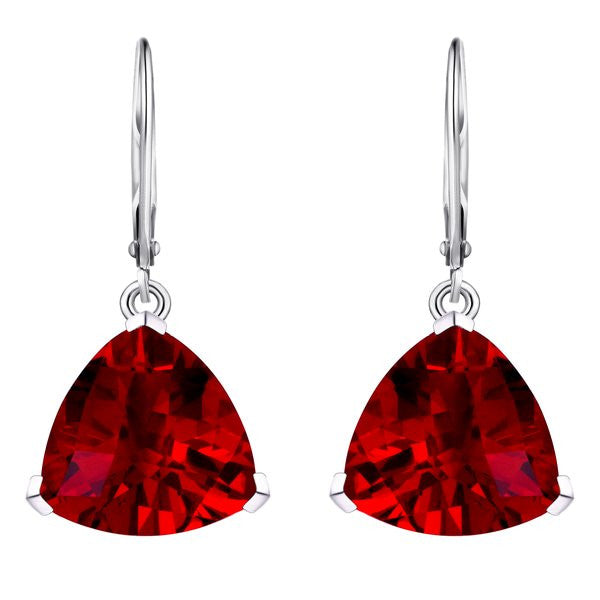 earrings cut trillion vintage drop diamond