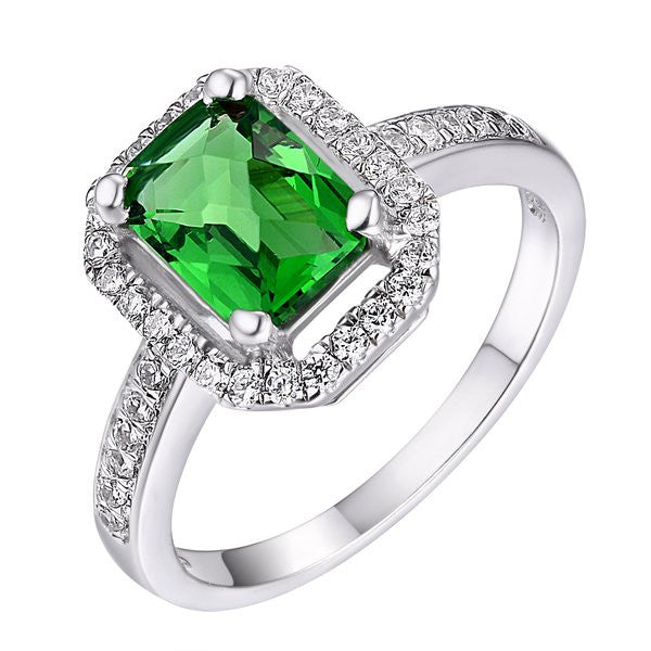 custom engagement ring rings flat emerald cut diamond