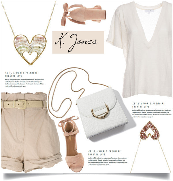 What to wear - Lovella Necklace - Gold Heart Necklace