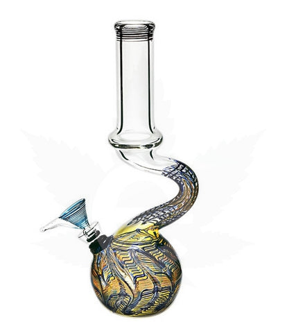 "11"" Water Pipe Bent Mix Color , Smoke Shop Supply - MarijuanaPackaging.com, eCannabis Shop"