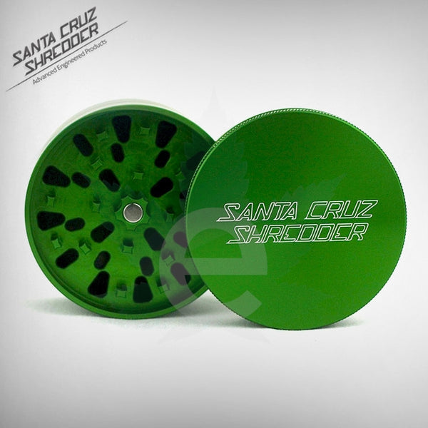 SCS - Small 4 - Piece ( Green ) , Grinders - Santa Cruz Shredders, eCannabis Shop  - 2