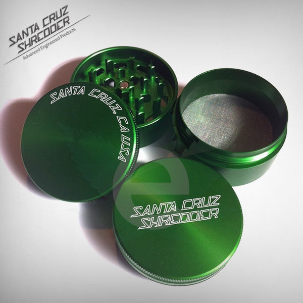 SCS - Small 4 - Piece ( Green ) , Grinders - Santa Cruz Shredders, eCannabis Shop  - 3