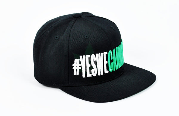 #YesWeCannabis Official Snapback Hat White / Green, Hats - #YesWeCannabis, eCannabis Shop  - 9
