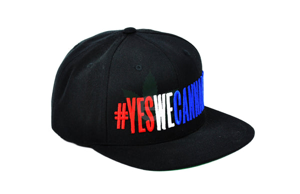 #YesWeCannabis Official Snapback Hat Red / White / Blue, Hats - #YesWeCannabis, eCannabis Shop  - 12