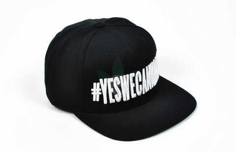 #YesWeCannabis Official Snapback Hat White, Hats - #YesWeCannabis, eCannabis Shop  - 1
