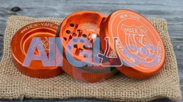 NewVape 3 Piece Coarse Grind Grinder - Orange