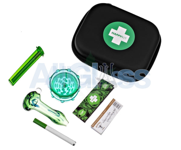 The Happy Kit - All in One Smoking Kit , Frontpage,Special Deals,The Happy Kit,Complete Travel Kits,Glass,July Sale - HappyKit, eCannabis Shop  - 2