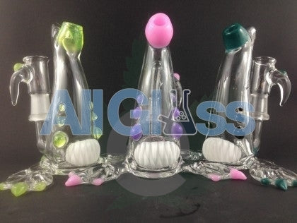 Kahuna Glass Clear/Color Accent Scalien , Kahuna Glass Art,Functional Glass Art,Glass - Kahuna Glass, eCannabis Shop
