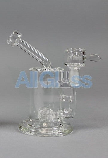 MILQ Glass Pocket Series Mini Size Signature Perc Waterpipe Rig