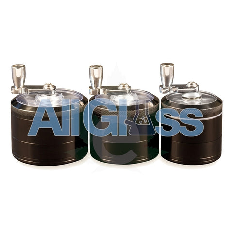 AEROSPACED 4 Piece Grinder/Sifter with Mill Handle , July Sale,Grinders - VapeWorld, eCannabis Shop  - 1