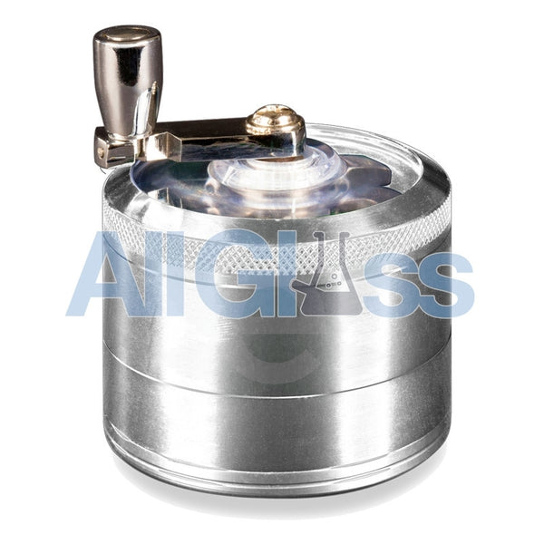 AEROSPACED 4 Piece Grinder/Sifter with Mill Handle , July Sale,Grinders - VapeWorld, eCannabis Shop  - 6