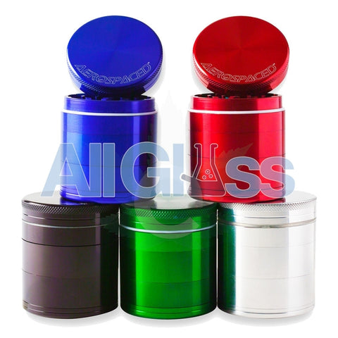 AEROSPACED 5 Piece Grinders / Sifters (Double Screen) , July Sale,Grinders - VapeWorld, eCannabis Shop  - 1