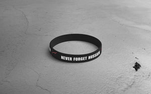 """Heart Beats Hussain"" & ""Never Forget"" Wristband"