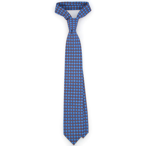 Foulard Twill Weave Silk Tie - French Blue