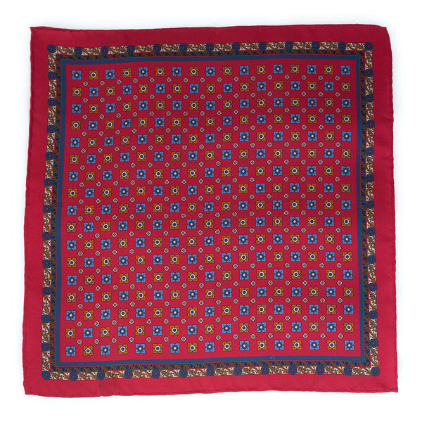Silk Pocket Square - Burgundy