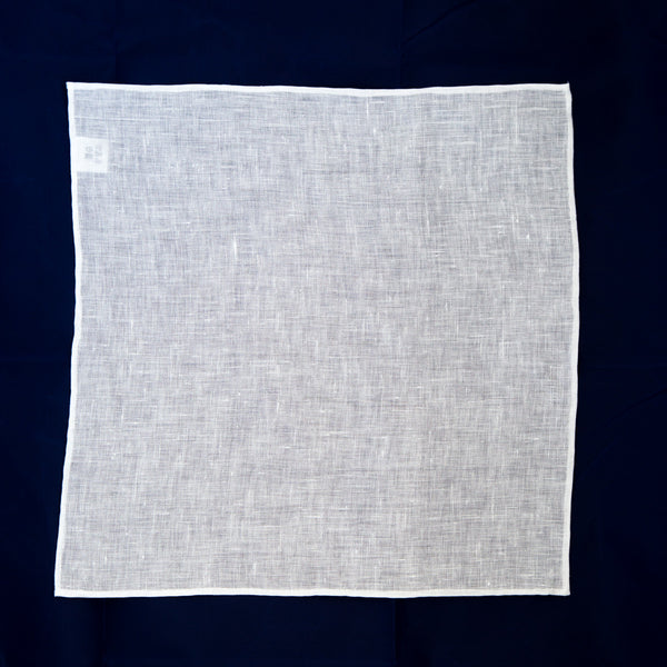 Classic Linen Pocket Square - White