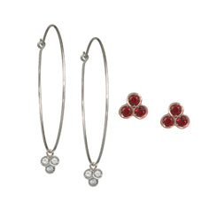 the portafortuna collection 3-stone earrings