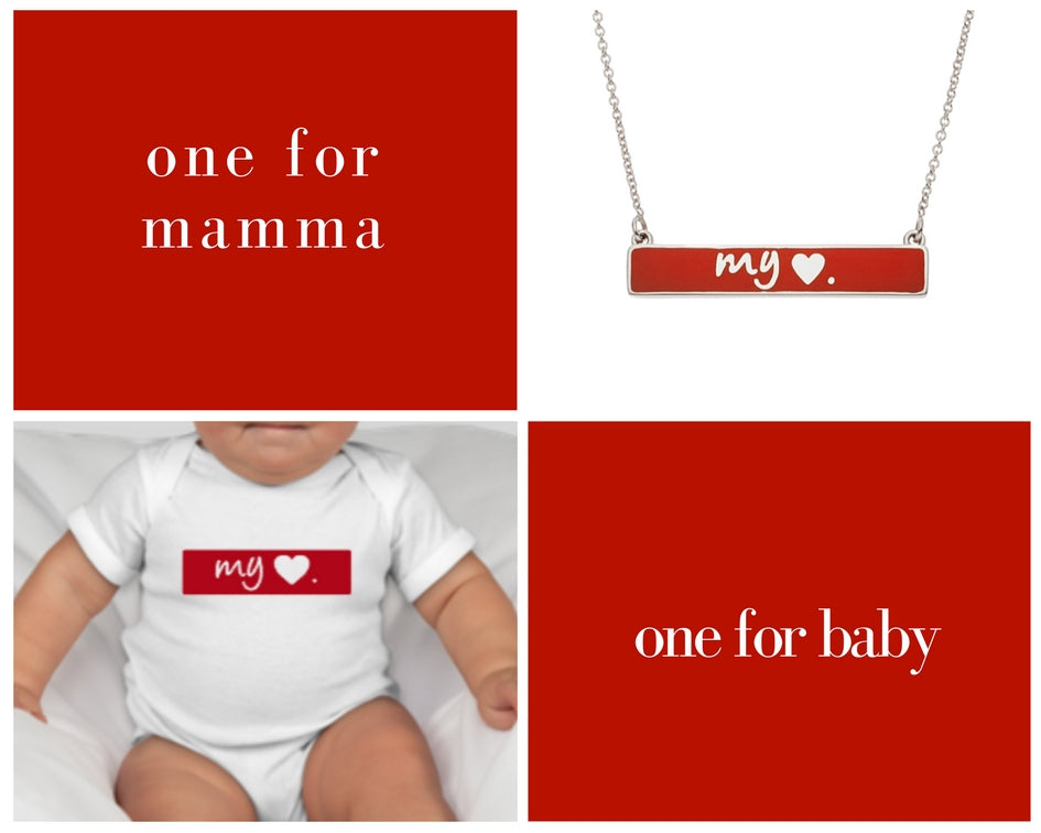 the my love necklace + onesie