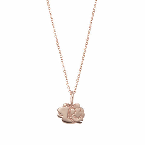 the little lucky peony necklace