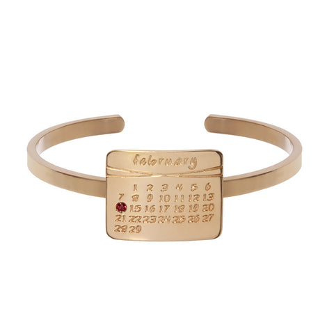 the calendar cuff bracelet<sup>®</sup> in rose gold
