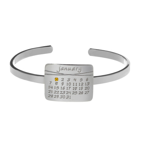 the calendar cuff bracelet<sup>®</sup> in sterling silver