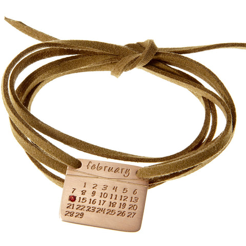 the calendar bracelet<sup>®</sup> in rose gold